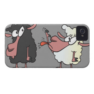 picking on the black sheep cartoon iPhone 4 case