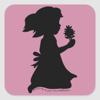 Picking Wildflowers Square Sticker