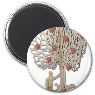 PickingAppleFromTree012511 2 Inch Round Magnet