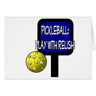Pickle and a round ball : Play with Relish! Stationery Note Card