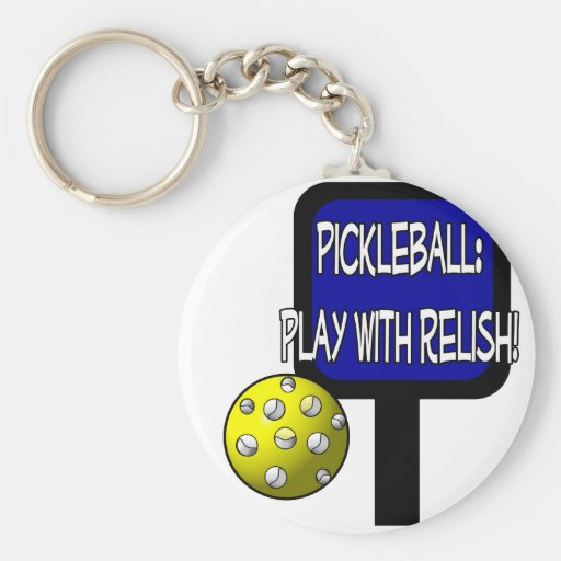Pickle and a round ball : Play with Relish! Key Chains