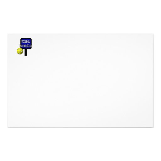 Pickle and a round ball : Play with Relish! Stationery Paper