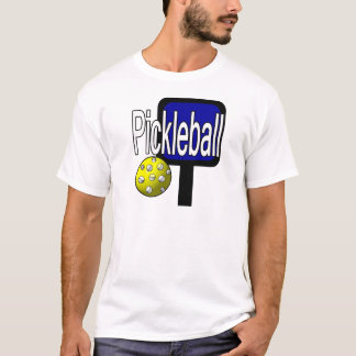 Pickle and ball graphic with paddle and ball T-Shirt