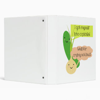 Pickle and Onion Humor 3 Ring Binder