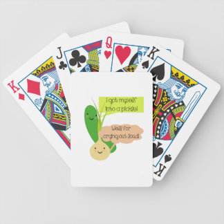 Pickle and Onion Humor Bicycle Playing Cards