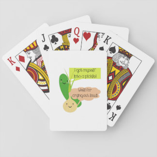 Pickle and Onion Humor Playing Cards