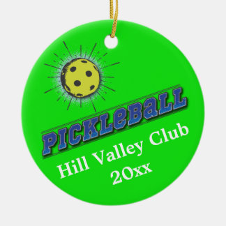 Pickle Ball Starburst Ceramic Ornament