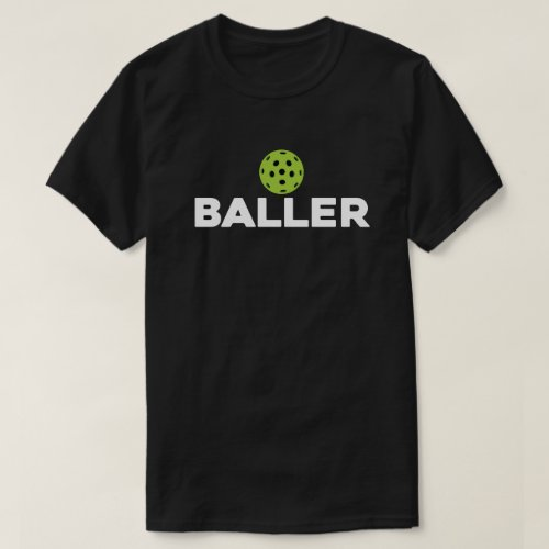 PickleBaller Dark Pickleball Shirt