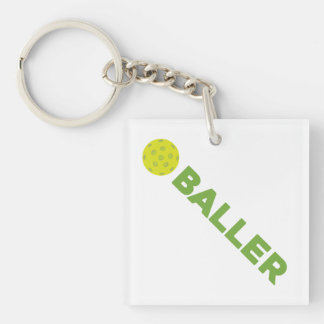 (Pickle)Baller Pickleball Keychain