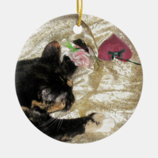 Pickle [cat]  and Christmas Ornament, Photograph