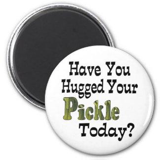 Pickle Hugger 2 Inch Round Magnet