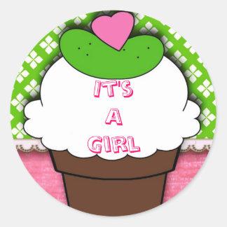 Pickle IceCream it s a girl sticker