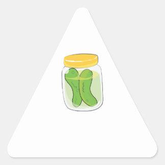 Pickle Jar Triangle Sticker