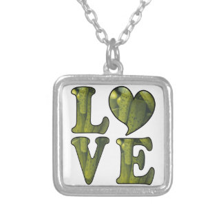 Pickle LOVE Silver Plated Necklace