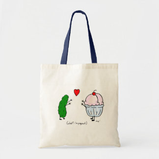 Pickle Loves Ice Cream Tote Bag
