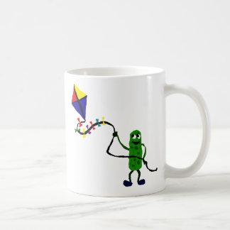 Pickle Man Flying Kite Classic White Coffee Mug