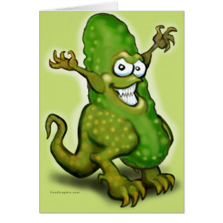 Pickle Monster Greeting Card