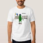 Pickle Playing Pickleball Primitive Art Shirt