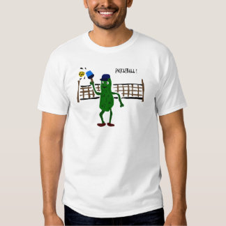 Pickle Playing Pickleball Primitive Art Shirt