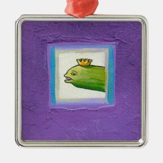 Pickle poet eel king weird unique fun original art christmas ornament