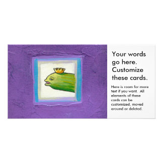 Pickle poet eel king weird unique fun original art photo greeting card
