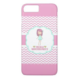 Pickle Snickelfritz iPhone Case - Pink Chevron