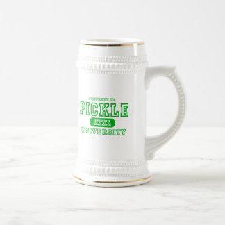Pickle University Beer Stein