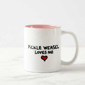 Pickle Weasel Loves ME mug. Two-Tone Coffee Mug