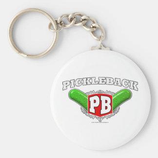 Pickleback Logo Basic Round Button Keychain
