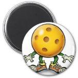 Pickleball 2 Inch Round Magnet