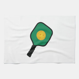 PICKLEBALL AND PADDLE KITCHEN TOWEL