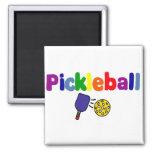 Pickleball Art 2 Inch Square Magnet