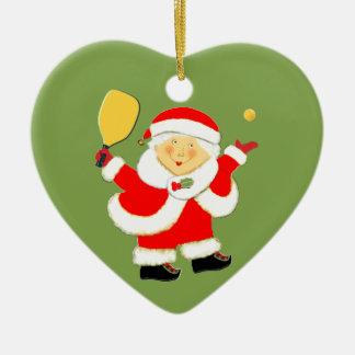 Pickleball Christmas Ceramic Ornament