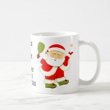 Beach Themed Pickleball Christmas Coffee Mug
