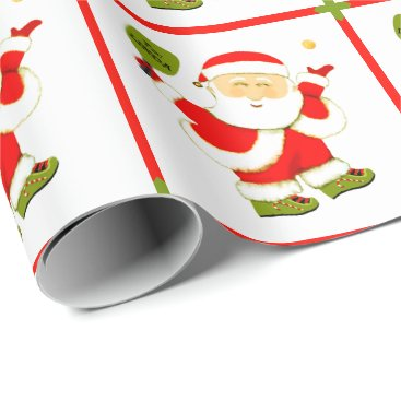Beach Themed Pickleball Christmas Wrapping Paper