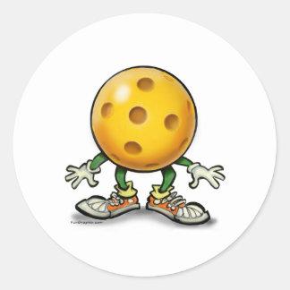 Pickleball Classic Round Sticker
