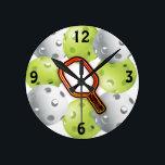 "Pickleball clock (medium)<br><div class=""desc"">Fun pickleball clock</div>"
