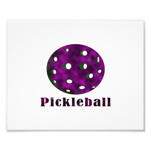pickleball clouded purple text n ball .png photo print