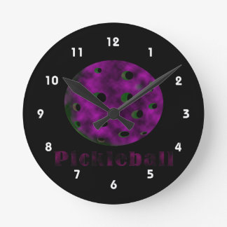 pickleball clouded purple text n ball .png round clock