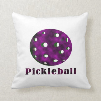 pickleball clouded purple text n ball .png throw pillow