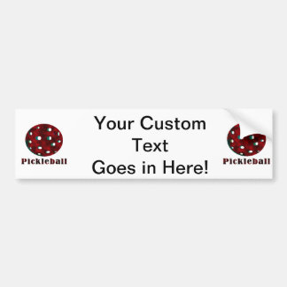 pickleball clouded red text n ball .png bumper sticker