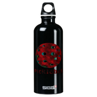 pickleball clouded red text n ball .png water bottle