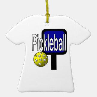 Pickleball, con la imagen del diseño de la bola y  ornamento de navidad