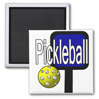 Pickleball, con la imagen del diseño de la bola y  imán para frigorifico