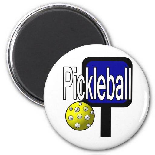 Pickleball, con la imagen del diseño de la bola y  imán redondo 5 cm