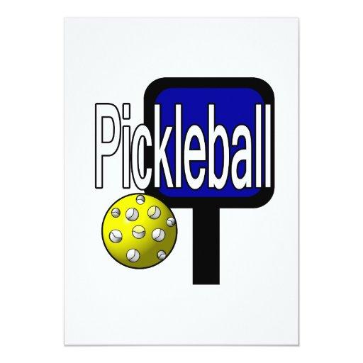 """Pickleball, con la imagen del diseño de la bola y invitación 5"""" x 7"""""""