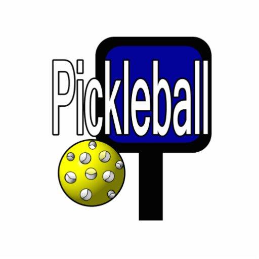 Pickleball, con la imagen del diseño de la bola y  pin fotoescultura