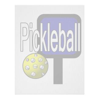 Pickleball, con la imagen del diseño de la bola y  plantilla de membrete
