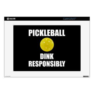 """Pickleball Dink Responsibly Skin For 15"""" Laptop"""