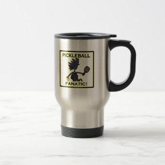 Pickleball Fanatic 15 Oz Stainless Steel Travel Mug